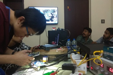 Chip level service training of CCTV cameras conducted by engineers from China.